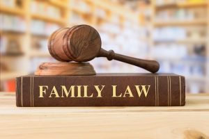 Picture of a gavel on top of a Family Law book