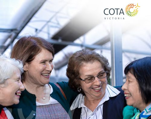 Picture of the front of COTA Victoria's annual report