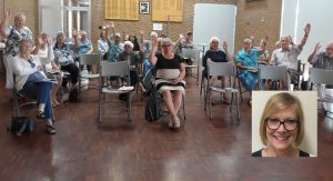 People attending a community education session in the Alpine Shire