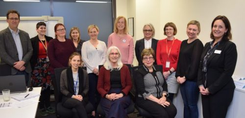 Members of the Elder Abuse Roundtable pictured last year with the Aged Discrimination Commissioner Dr Kay Patterson AO, seated front right